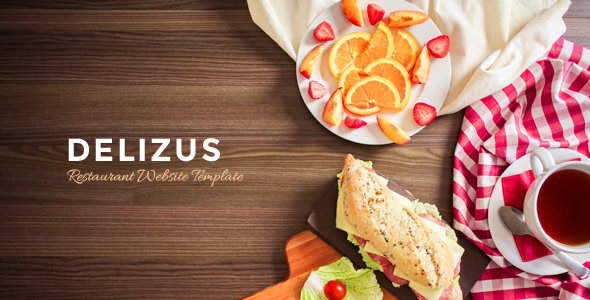 Download Delizus : Restaurant and Cafe Website Template