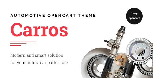 Carros — Car Parts OpenCart Theme