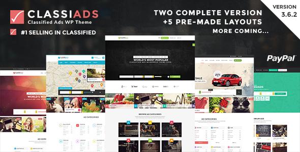 Classiads - Classified Ads WordPress Theme by designinvento  ...