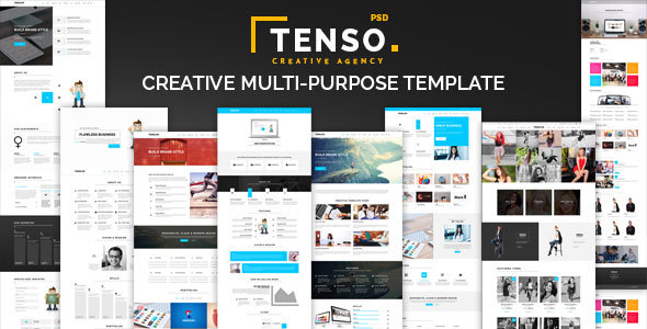 Tenso - Creative Multipurpose PSD Template