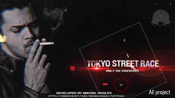 VideoHive Tokyo Street Race Titles 19305293