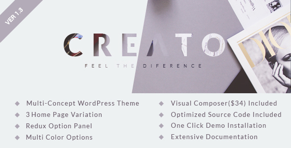 Creato - Creative Parallax Multi-purpose WordPress Theme
