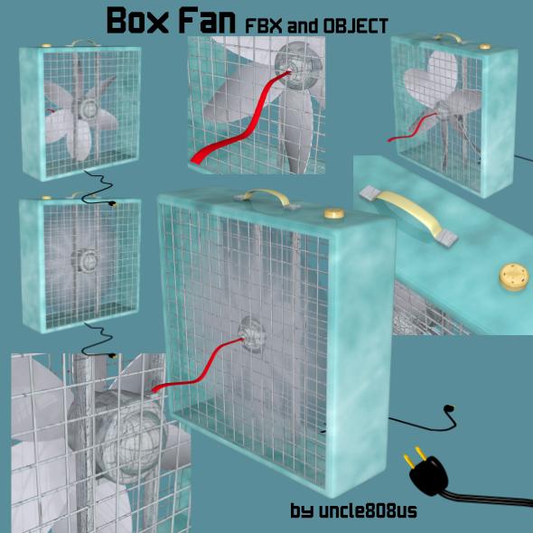 3DOcean Box Fan FBX OBJ 19306905