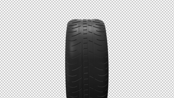 VideoHive Black Isolation Rubber Tire on the White Backgrounds 19307145