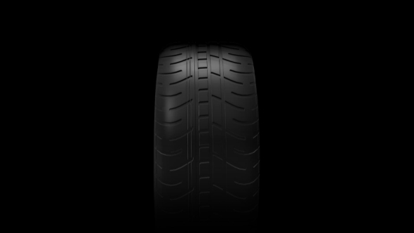 VideoHive Black Isolation Rubber Tire on the White Backgrounds 19307148