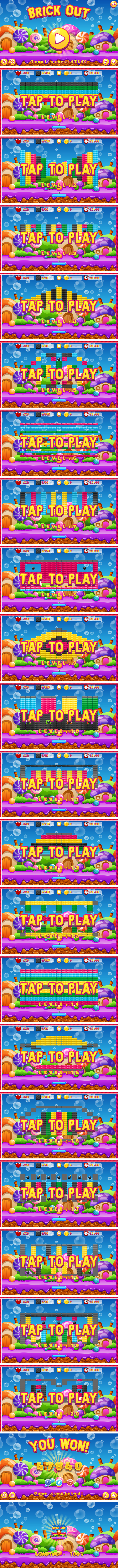 Brick Out - HTML5 Game, Mobile Version+AdMob!!! (Construct 3 | Construct 2 | Capx) - 3