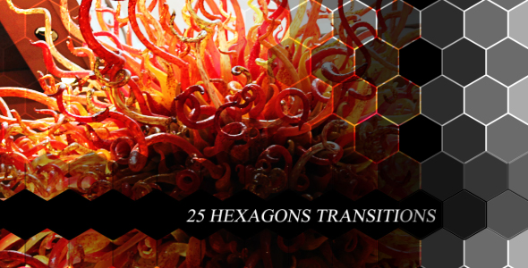VideoHive Hexagons Transitions 19307253