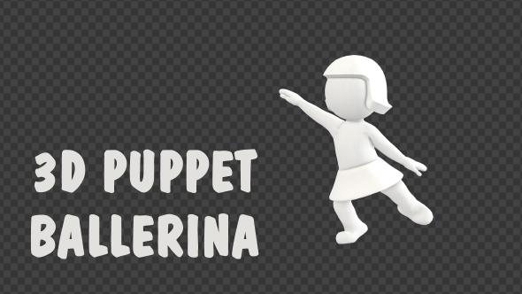 VideoHive 3D Puppet Ballerina 19307359