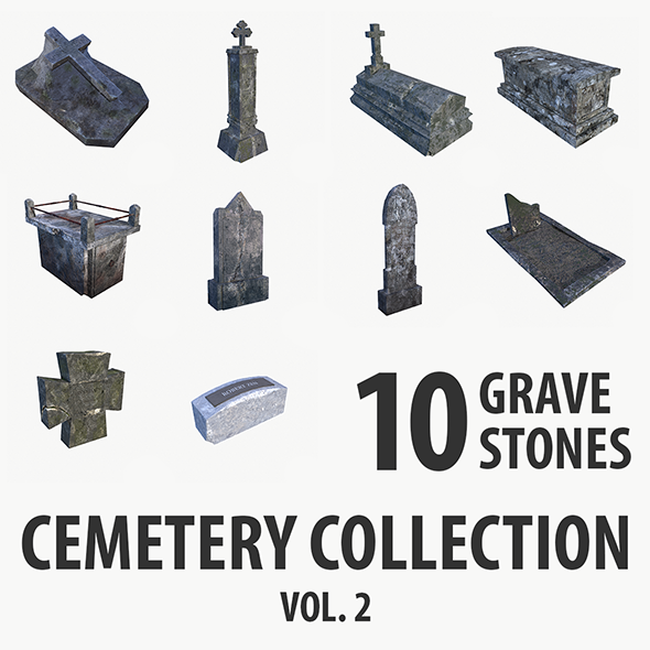 Gravestone collection vol. 2 - 3DOcean Item for Sale