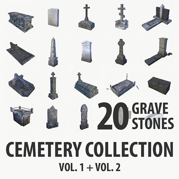 3DOcean Gravestone collection vol 1 & vol 2 19307658