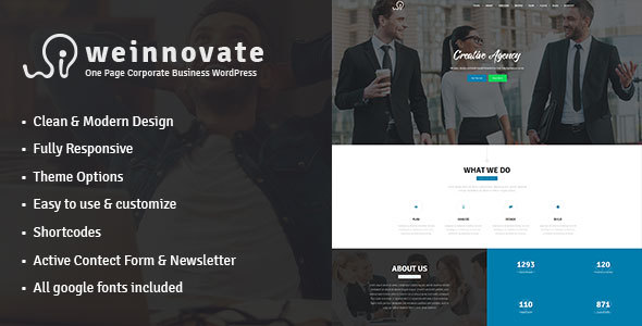 Download Weinnovate - One Page Corporate Business WordPress nulled download