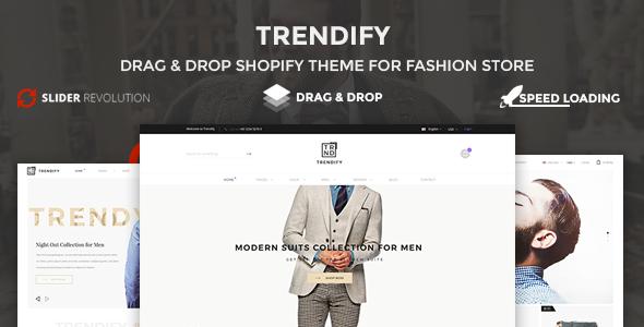 Trendify - Boost sale, Drag Drop, Clean Fashion Shopify Theme