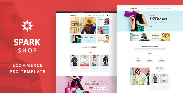 SPARK Shop -  e-Commerce PSD template