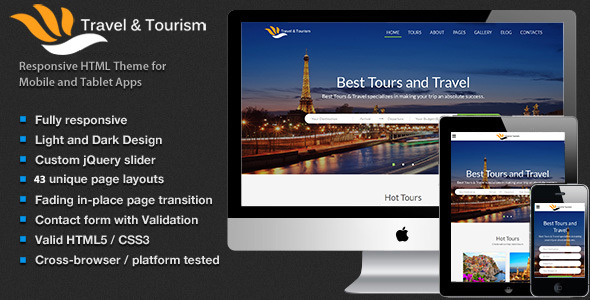 Travel – Tourism, Tour Booking HTML5 Template (Travel)