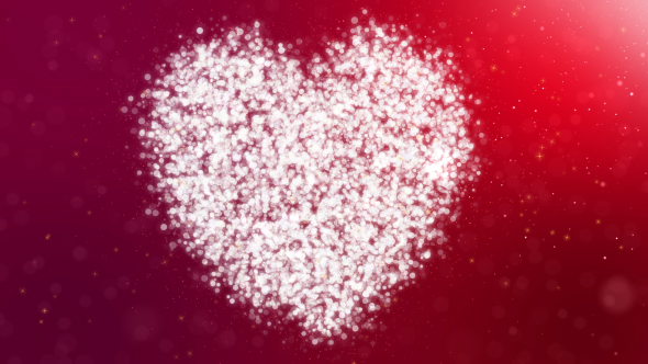 VideoHive Heart Particles 19308255