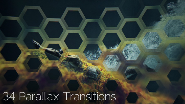 VideoHive 3D Parallax Transitions Pack 19300559