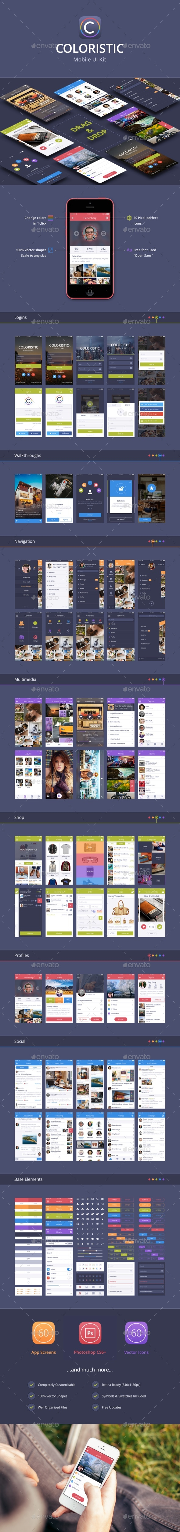 Shopapp - Flat Mobile App UI - Shopping (User Interfaces)
