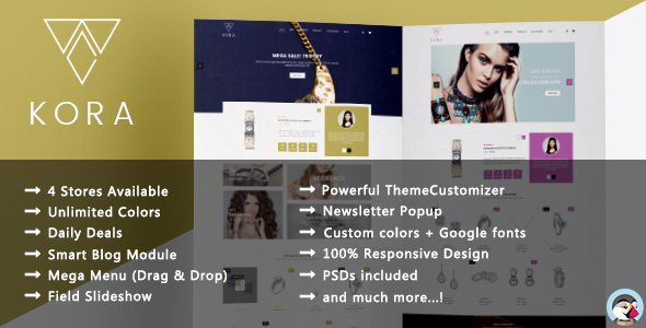 Download Kora - Responsive Prestashop Theme nulled download
