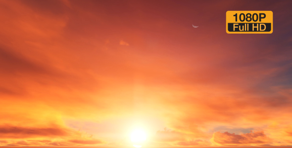 VideoHive Red Clouds Time-lapse 19309026