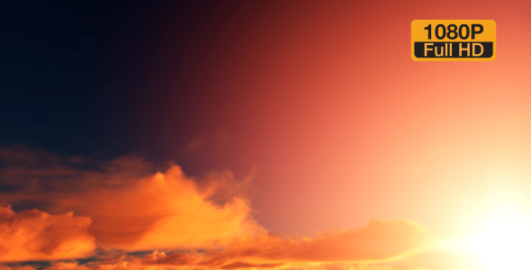 VideoHive Sunset Red Clouds 19309036