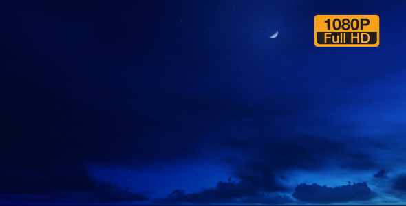 VideoHive Time-lapse Night Clouds 19309057