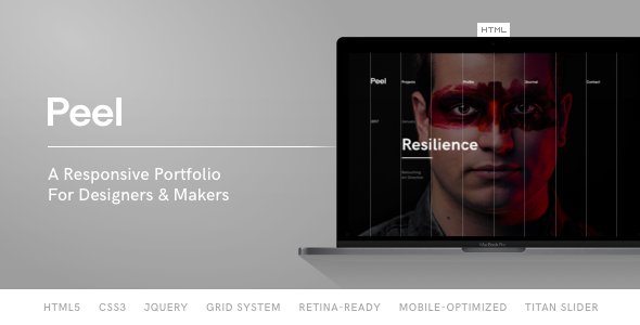 Download Peel - Portfolio Template For Creatives