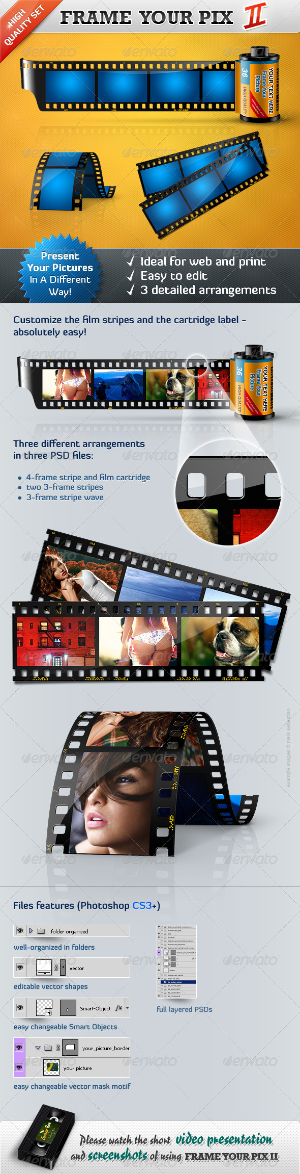 Frame Your Pictures II - Film Stripes - GraphicRiver Item for Sale