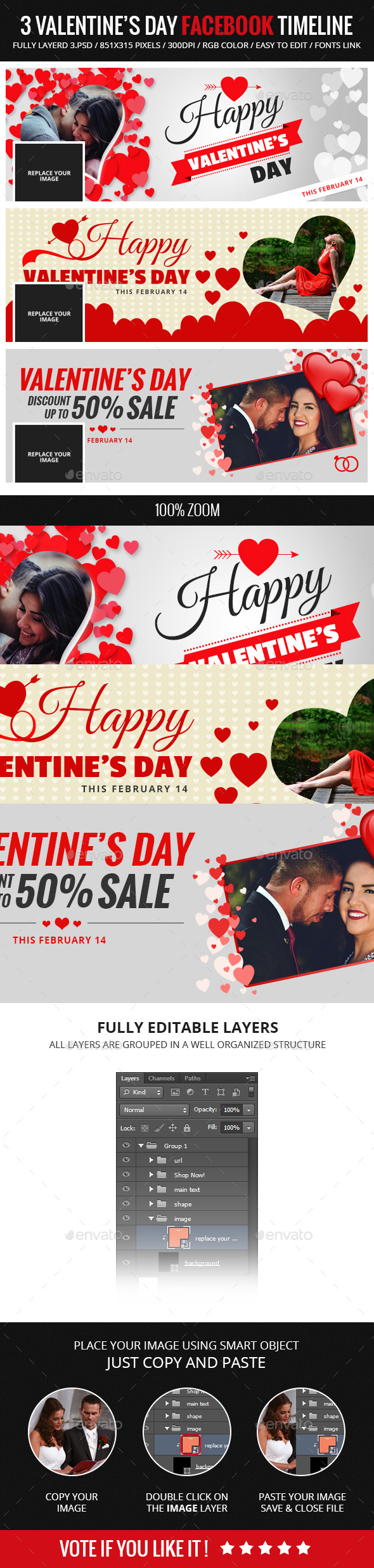 Facebook Cover Banner Valentines Day