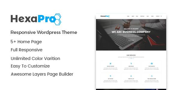 Hexapro – Corporate WordPress Theme (Business)