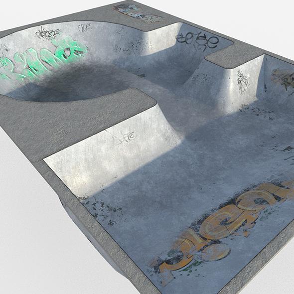 Skate park Pool - 3DOcean Item for Sale