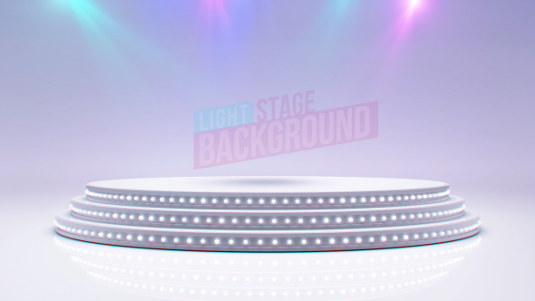VideoHive White Stage And Spot Lights 19310312