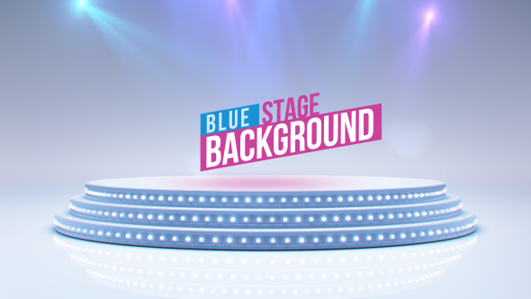 VideoHive Blue Stage And Spot Lights 19310325