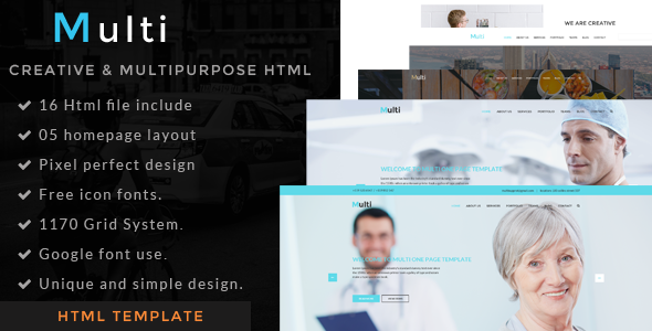 Multi - one page  html template