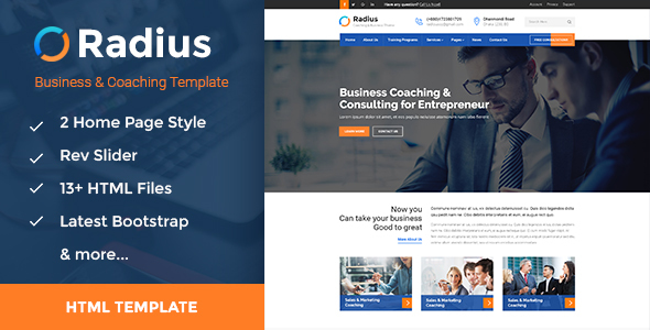 Download Radius - Training, Coaching, Consulting & Business HTML Template