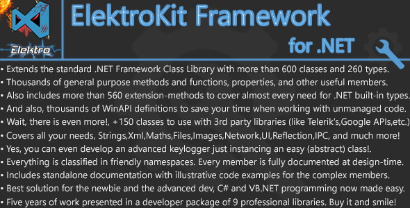 ElektroKit Class Library for .NET - CodeCanyon Item for Sale