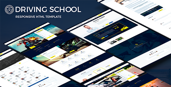 Driving School - Responsive HTML Template