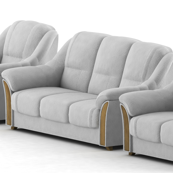 Sofa and armchair - 3DOcean Item for Sale