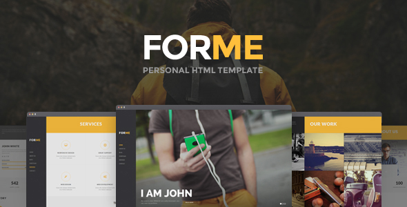 Download Forme - Personal HTML Template