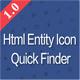 HTML Entity Quick Search
