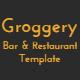 Groggery - Responsive Bar & Restaurant Template