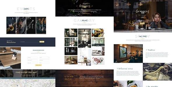 Download Groggery - Responsive Bar & Restaurant Template