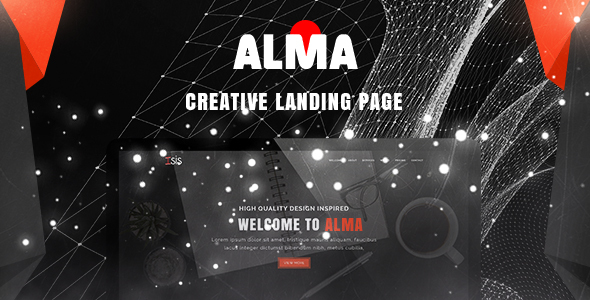 Alma - Simple & Creative Landing Page PSD Template