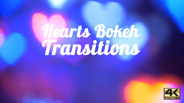 VideoHive Hearts Bokeh Transitions 19312232