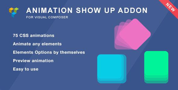 Animation ShowUp - Visual Composer Addon
