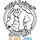 Animal Outline Vector - Gorilla