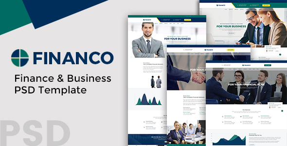 Download Financo - Finance and Buisness PSD Template