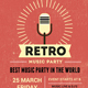 Retro Music Party Flyer Template-V01