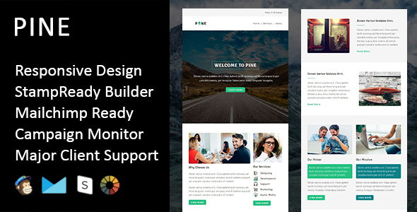 Download Pine - Multipurpose Responsive Email Template + Stampready Builder nulled download