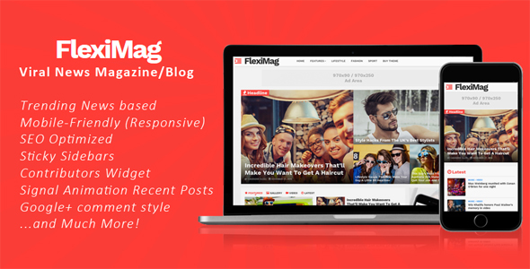 FlexiMag - Viral Blogger News Magazine / Blog Theme [for Blogspot]