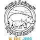 Animal Outline Vector - Hippopotamus